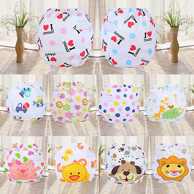Infant Baby Reusable Washable Cloth Diaper Kids Nappy Cover Adjustable Diapers