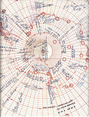 1963 Usa  Byrd Station Antarctica Singed By Just About Every One There!!  Wow!!!