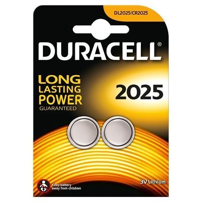 2 X Duracell CR2025 3V Lithium Button Battery Coin Cell DL/CR 2025 Expiry 2026