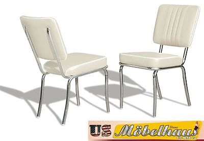 CO-24 White Bel Air Furniture 2 Chairs Diner Kitchen in the Style of 50 Piece