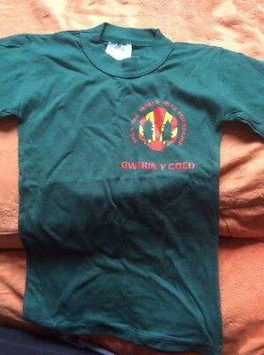 """The Woodcraft Folk Child's T-Shirt In Welsh Size 24"""" New Vintage 1990's"""