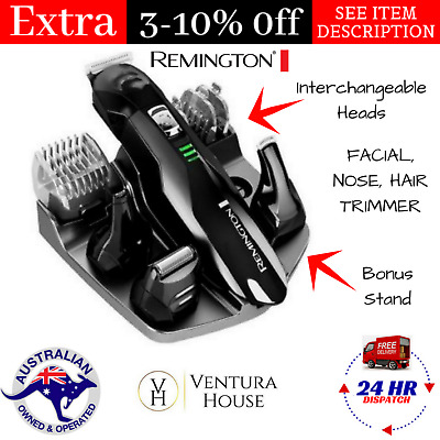Remington Cordless Beard Trimmer Mens Shaver Hair Clipper Rechargeable Electric