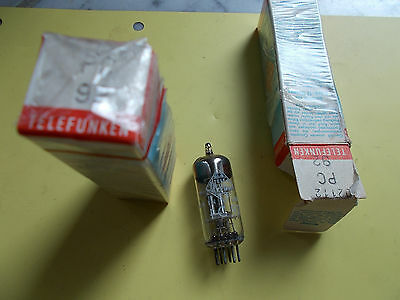 pair PC92, triode TELEFUNKEN<>, NOS, see text