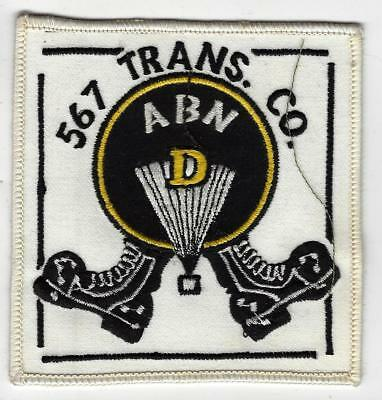 "567th Trans Co Airborne, D, 4"" patch, unusual, older."
