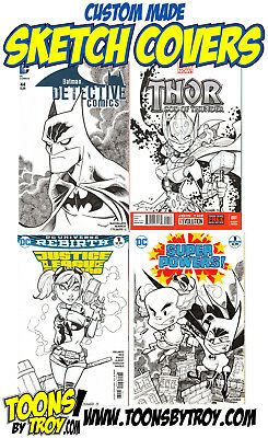 Original Comic Art Commission! Custom Sketch Covers!