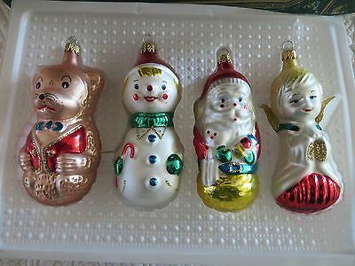 Kurt S. Adler  Blown Glass Christmas Ornaments Bear, Santa, Angel, Snowman *nib*