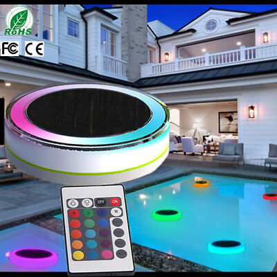 LED RGB Solar Floating Light Bulb Swimming Pool Home Hotel Garden Outdoor IP68