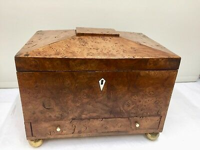 Antique Burr Elm Document - Sewing Box circa 1730