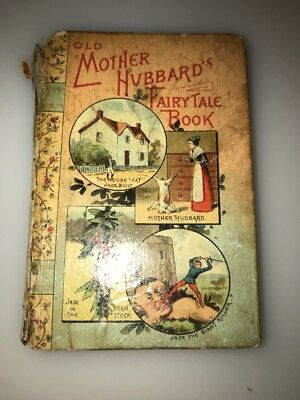 Antique Miniature Book Old Mother Hubbard's Fairy Take Book