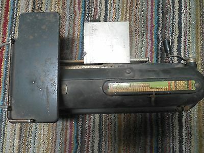 The Protectograph Check Writer several patents  -G.W. TODD CO -ROCHESTER, NY USA