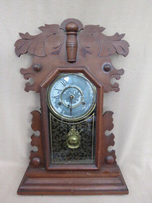 Large Antique Newhaven American Shelf Clock For Tlc