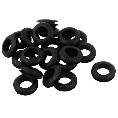 14mm Inner Dia Rubber Electrical Round Wire Grommets Gasket 20 Pcs K4Z2