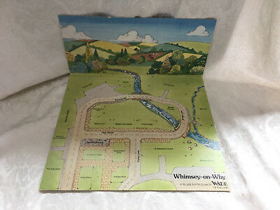 WADE WHIMSEY ON WHY Miniature English Village House DISPLAY CARD Map Mat Set 1+2