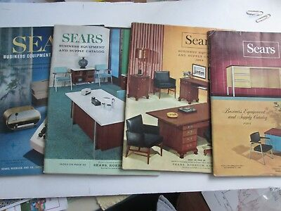 Lot of 4 Sears Business Catalogs-1961,63,64,65.   Offices Supplies, Prices