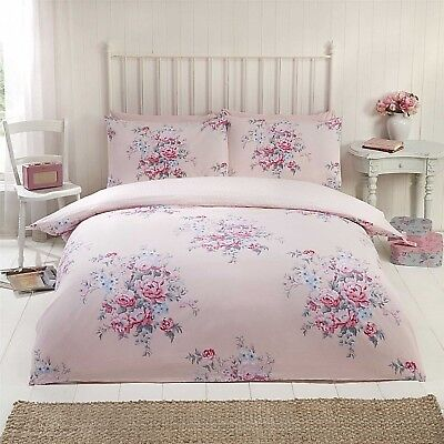 Maisie Blush Pink Quilt Cover Floral + Polka Reverse Bedding Set ~ ALL SIZES ~