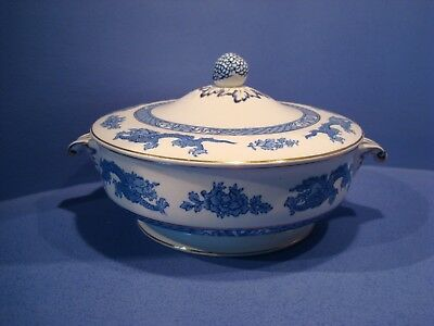 George Jones, Crescent China, Dragon Pattern, Twin Handled Lidded Tureen