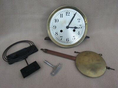 Complete Vintage German Aw Striking Clock Wall Movement Etc For Tlc