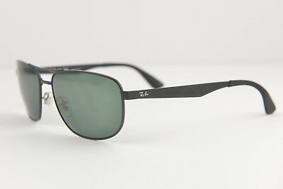 6028e7036ac RAY BAN RB 3528 006 82 Black Polarized Mirrored Lens Sunglasses ...
