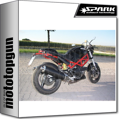 Spark Exhaust Low Oval Homologate Carbon Ducati Monster 800