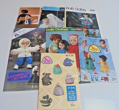 Doll Clothes Knitting Patterns Toy Patterns Sewing Booklets/Books You Choose