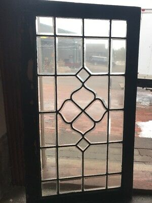 Sg1777 Antique All Beveled Glass Transom Window 23 H By 40.5 W