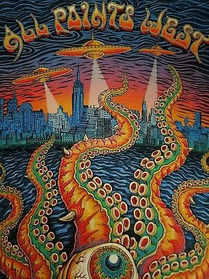 EMEK ALL Points WEST FESTIVAL 2008 New Jersey Glow in Dark Poster S/N Doodled!