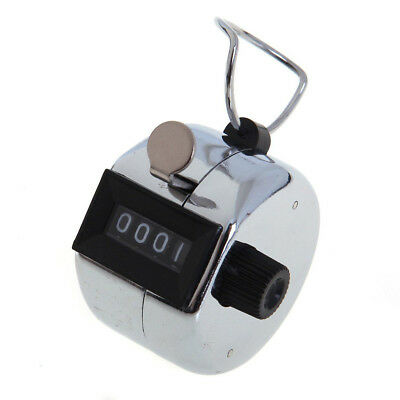 20pcs Metal Hand Held Tally Counter 4 Digit Palm Golf Clicker Club H5B9