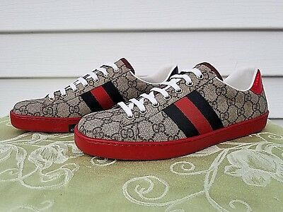 964c74a579b Gucci New Ace GG Supreme Authentic Men s Sneakers Shoes Size 8 US  429445K2LH0