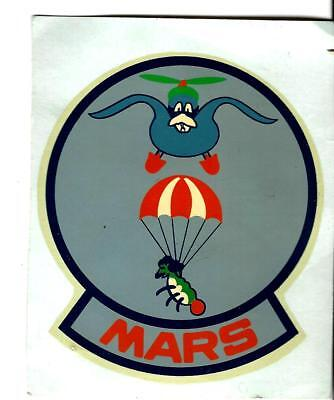 Unid MARS  parachute, AIRBORNE patch type decal, good condition...RARE??? 3 1/2""