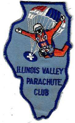 "Large 6"" Illinois Valley Parachute club patch, great design..Don;t miss this one"