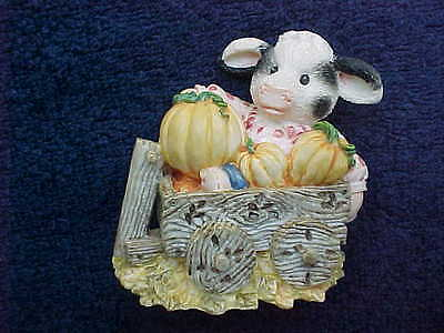 Mary's Moo Moos I'm Your Little Pumpkin Halloween #142859 cow figurine c1995