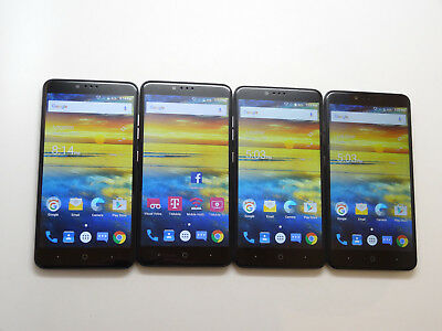 Lot of 4 ZTE ZMax Pro Z981 32GB T-Mobile Smartphones AS-IS GSM