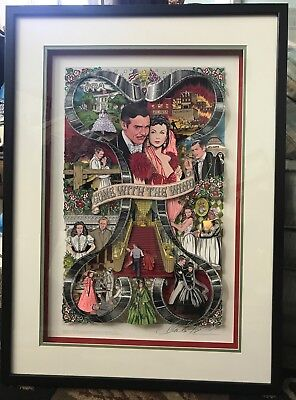Gone With The Wind Art Collage By Charles Fazzino Signed~Numbered 107/150