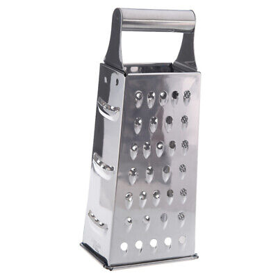 Stainless Steel 4 Sided Box Grater (Silver) G7G4
