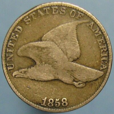 1858 Large Letters Flying Eagle Cent - Average Circulation with No Problems