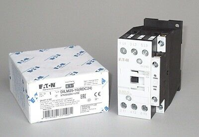 Eaton DILM25-10 Contactor XTCE025C10TD, 24VDC Coil, 15 HP, Free Priority Mail
