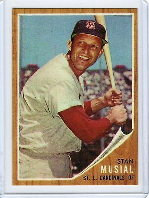 Stan Musial 1962 Topps BASEBALL card #50 St.Louis Cardinals / REPRINT