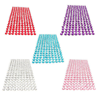 32*10.5CM Self Adhesive Clear Diamante Stick On Crystals Rhinestone Gems Car Pop