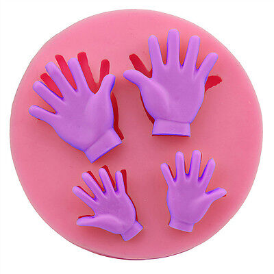 3D Human Hand  Silicone Fondant Mold Cake Decoration Tools Chocolate Mould Pop
