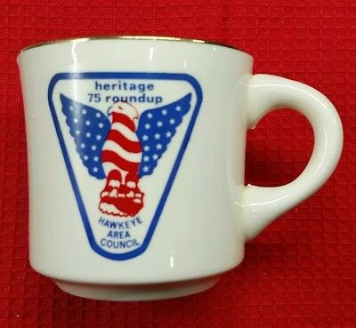 1975 Boy Scouts Hawkeye Area Council Heritage Roundup Coffee Cup / Mug China