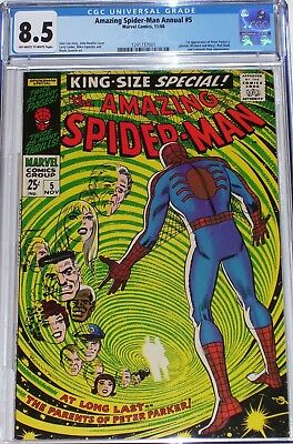 Amazing Spider-Man Annual #5 CGC graded 8.5 1st appearance of Peter's parents