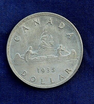 Canadian Silver Dollar 1935 First Year High Grade
