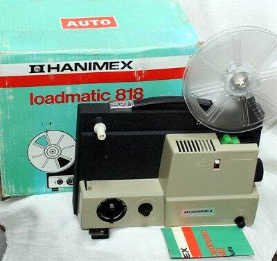 Hanimex 8mm Dual 818 movie projector ,Beautiful ,with book .never used.Brand NEW