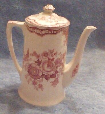 Vintage Crown Ducal England Bristol Pink Coffee Pot - Rd No 762055