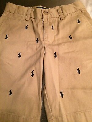 Ralph Lauren Polo Boys Tan Shorts Size 7