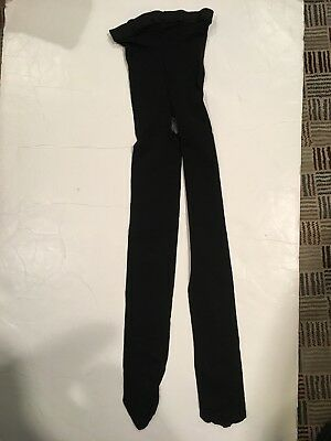 Capezio Footed Black Tights Child Size Large 12-14