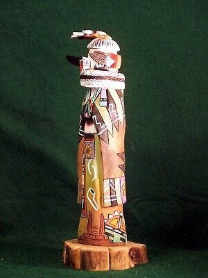 Hopi Kachina Doll - Hon, the White Bear Kachina - Beautiful!