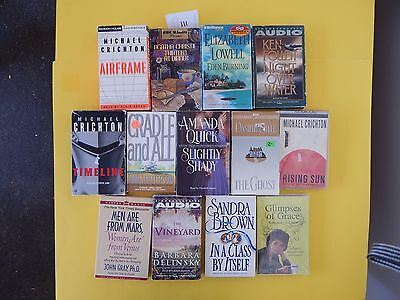 Lot of 13 Mixed Audio Books on Cassettes. L111