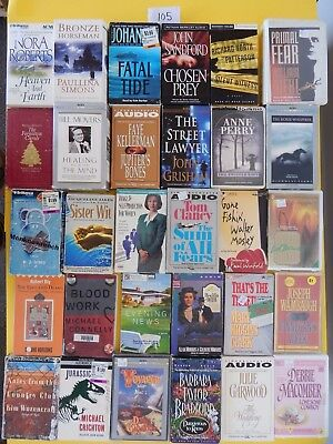 Lot of 30 Mixed Audio Books on Cassettes. L105