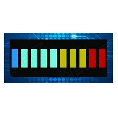 2x 10 Segment Color LED BAR Graph Indicator DIP 1*Blue 4*Green 3*Yellow 2*Red.#